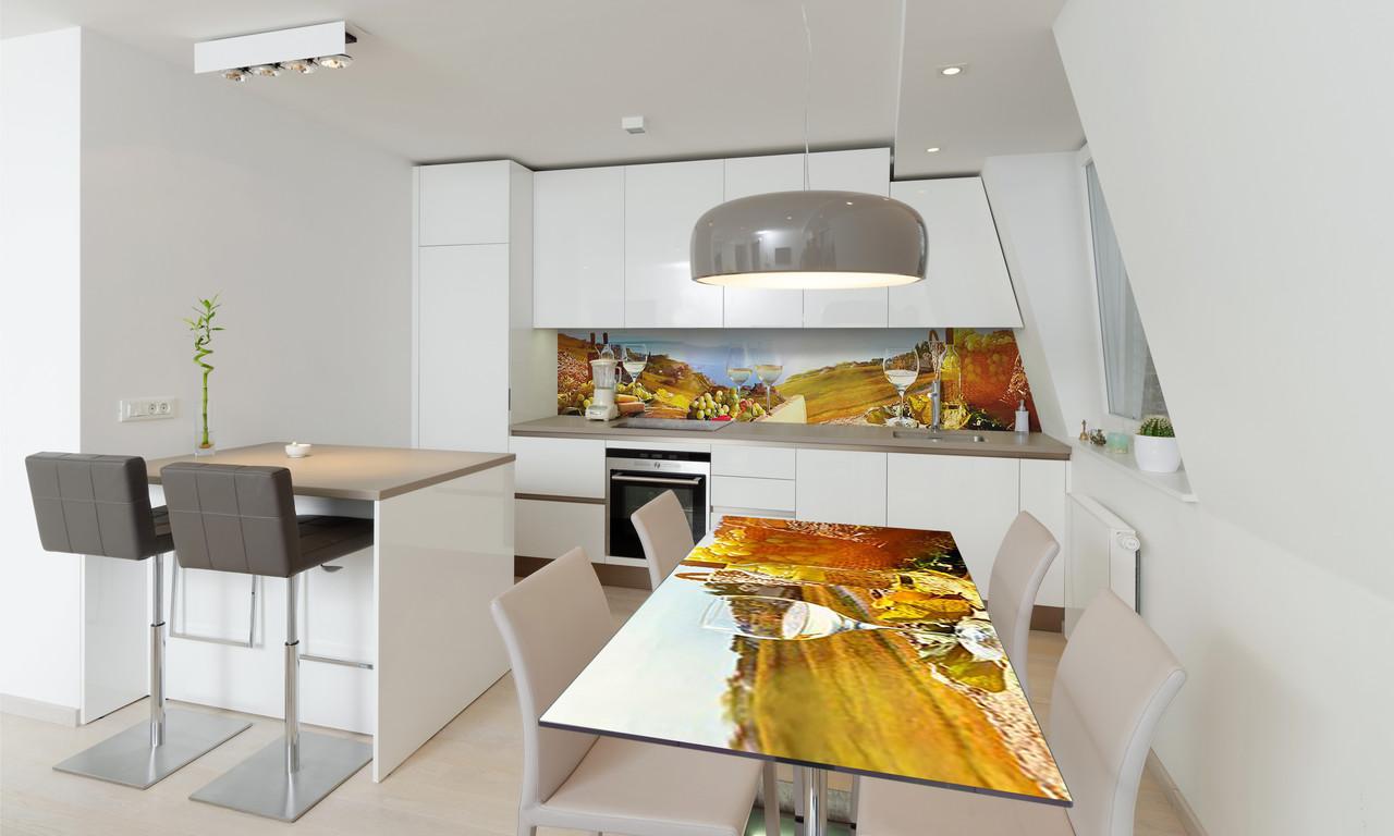 Наклейка 3Д виниловая на стол Zatarga «Винный Край» 600х1200 мм для домов, квартир, столов, кофейн,