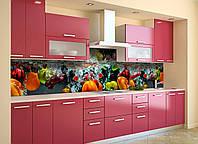 Скинали на кухню Zatarga «Овощи в воде» 600х2500 мм виниловая 3Д наклейка кухонный фартук самоклеящаяся, фото 1