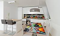 Наклейка 3Д виниловая на стол Zatarga «Овощи в воде» 650х1200 мм для домов, квартир, столов, кофейн,, фото 1
