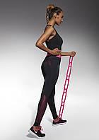 Женские спортивные леггинсы Bas Bleu Inspire S Черный с розовым (bb0040)