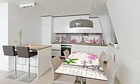 Наклейка 3Д виниловая на стол Zatarga «Весна в Париже» 600х1200 мм для домов, квартир, столов, кофейн,, фото 1