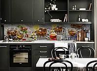 Скинали на кухню Zatarga «Чайный Аромат» 600х2500 мм виниловая 3Д наклейка кухонный фартук самоклеящаяся, фото 1