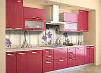 Скинали на кухню Zatarga «Акварельная Дива» 650х2500 мм виниловая 3Д наклейка кухонный фартук самоклеящаяся, фото 1