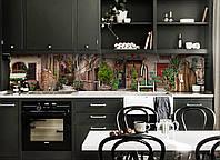 Скинали на кухню Zatarga «Кирпичные Улицы» 600х3000 мм виниловая 3Д наклейка кухонный фартук самоклеящаяся, фото 1