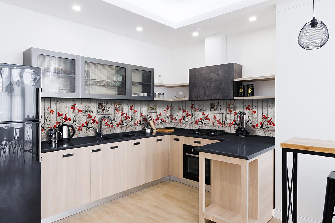 Скинали на кухню Zatarga «Иллюзия» 600х3000 мм виниловая 3Д наклейка кухонный фартук самоклеящаяся