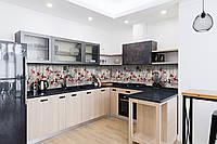 Скинали на кухню Zatarga «Иллюзия» 600х3000 мм виниловая 3Д наклейка кухонный фартук самоклеящаяся, фото 1