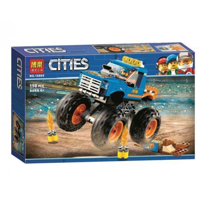 """Конструктор """"Грузовик-монстр"""" Bela 10869 (аналог Lego City 60180), 198 дет"""