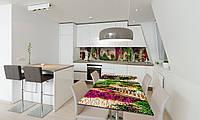 Наклейка 3Д виниловая на стол Zatarga «Зеленые улицы Прованса» 650х1200 мм для домов, квартир, столов, , фото 1