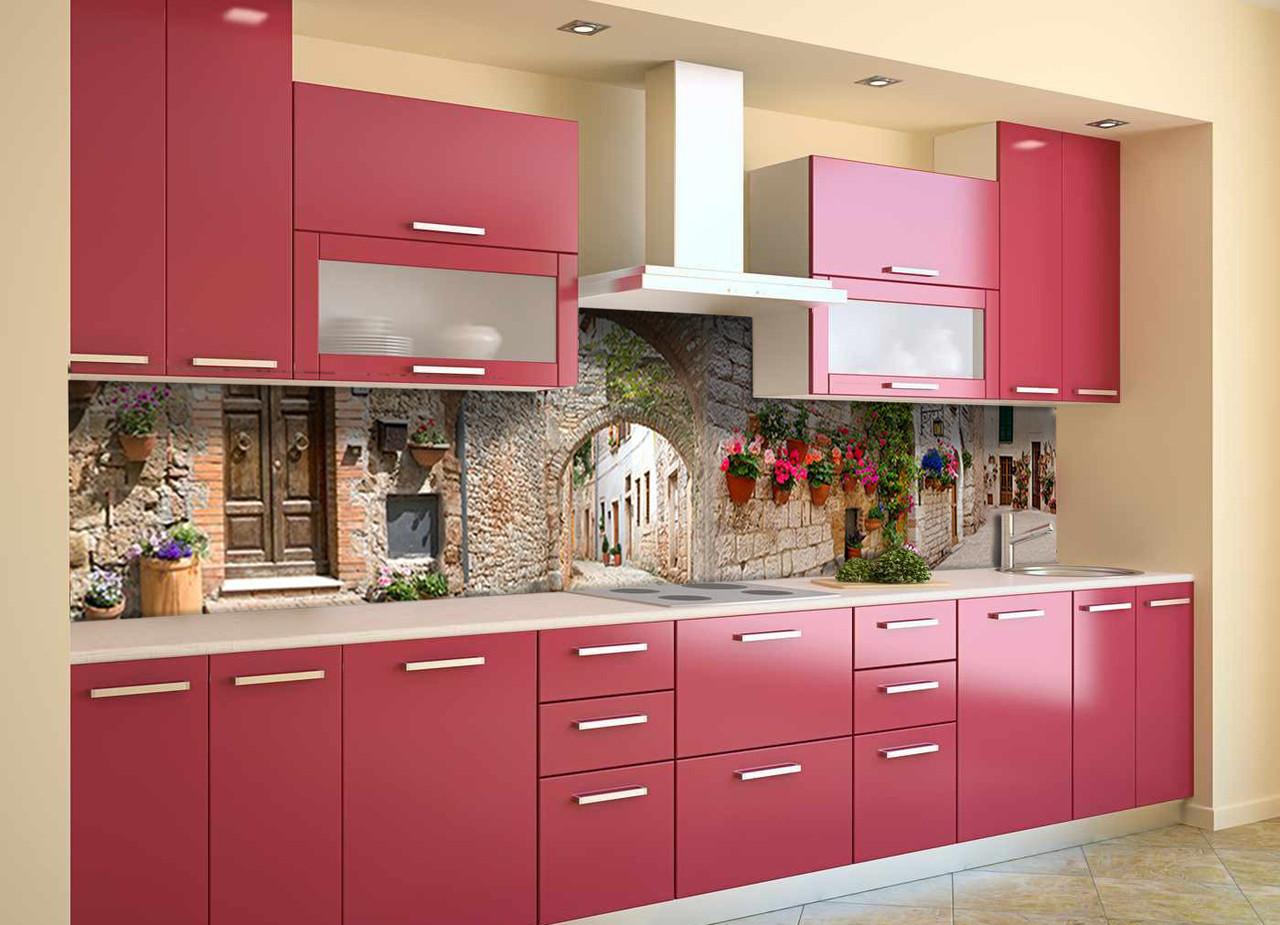 Скинали на кухню Zatarga «Каменные Арки» 600х3000 мм виниловая 3Д наклейка кухонный фартук самоклеящаяся