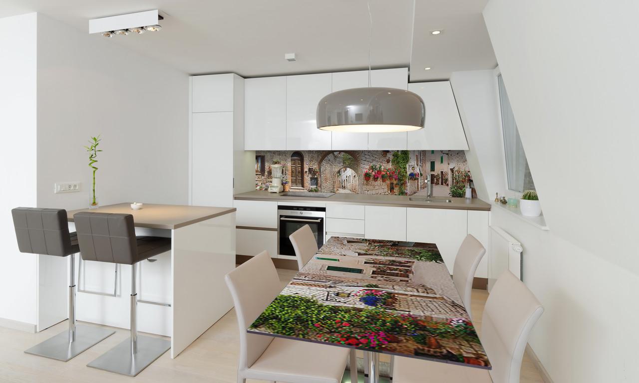 Наклейка 3Д виниловая на стол Zatarga «Каменные Арки» 650х1200 мм для домов, квартир, столов, кофейн,
