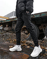 Теплі штани джоггеры чоловічі Пушка Огонь Zuren чорні, фото 1