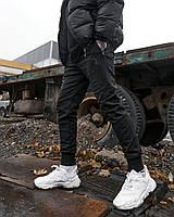 Теплые брюки джоггеры мужские Огонь Пушка Zuren черные, фото 1