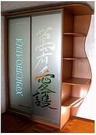 Шкаф купе матированное зеркало с угловым сегментом