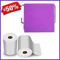 Держатель для туалетной бумаги Bathlux Flor de clasico 50300 крючком настенный закрытый с крышкой пластиковый