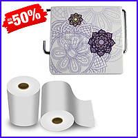 Держатель для туалетной бумаги Bathlux Flor de clasico 50327 крючком настенный закрытый с крышкой пластиковый