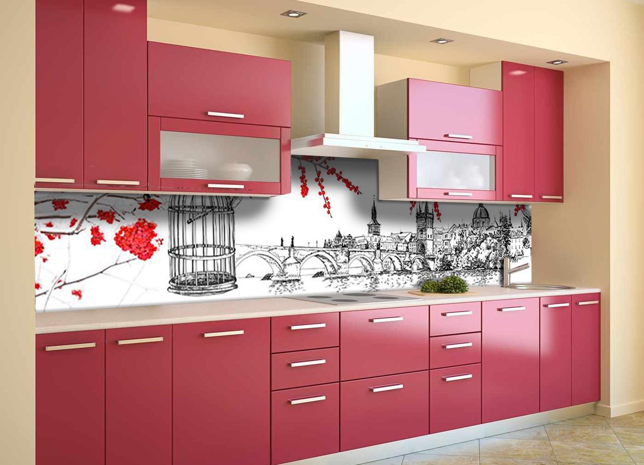 Скинали на кухню Zatarga «Англия» 600х2500 мм виниловая 3Д наклейка кухонный фартук самоклеящаяся