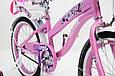 Іспанська дитячий рожевий велосипед для дівчинки з кошиком RUEDA 18 дюймів (Квіточка) на 5-8 років, фото 10