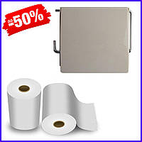 Держатель для туалетной бумаги Bathlux Flowers 50301 крючком настенный закрытый с крышкой пластиковый