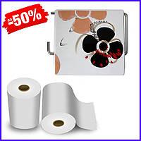 Держатель для туалетной бумаги Bathlux Flowers 50342 крючком настенный закрытый с крышкой пластиковый
