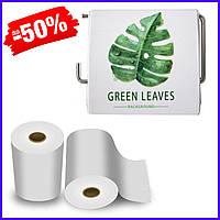 Держатель для туалетной бумаги Bathlux Green Leaves 50334 крючком настенный закрытый с крышкой пластиковый