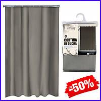 Шторка для ванной Bathlux Grey 60047 занавеска для душа раздвижная текстильная штора в ванну