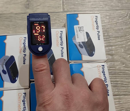 Пульсоксиметр Fingertip Pulse Oximeter AB-88 (10шт), фото 2