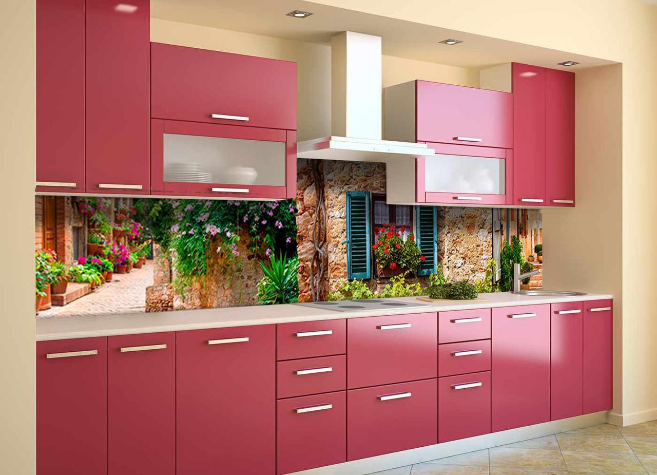Скинали на кухню Zatarga «Шикарный Прованс» 650х2500 мм виниловая 3Д наклейка кухонный фартук самоклеящаяся