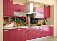 Скинали на кухню Zatarga «Шикарный Прованс» 650х2500 мм виниловая 3Д наклейка кухонный фартук самоклеящаяся, фото 1
