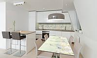 Наклейка 3Д виниловая на стол Zatarga «Нарисованные Розы» 650х1200 мм для домов, квартир, столов, , фото 1