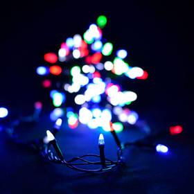"Гирлянда ""Проводная"" свеча матовая 200LED,черный шнур (LS-200M-3) RGB"