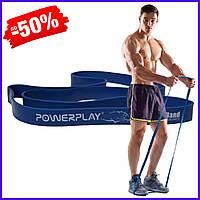 Спортивная резина PowerPlay 4115 Blue 20-45 kg резиновый эспандер-петля жгут для фитнеса и силовых тренировок
