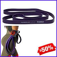 Спортивная резина PowerPlay4115 Purple 14-23kg резиновый эспандер-петля жгут для фитнеса и силовых тренировок