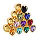Анальная пробка металл сердечко золотая L, фото 3