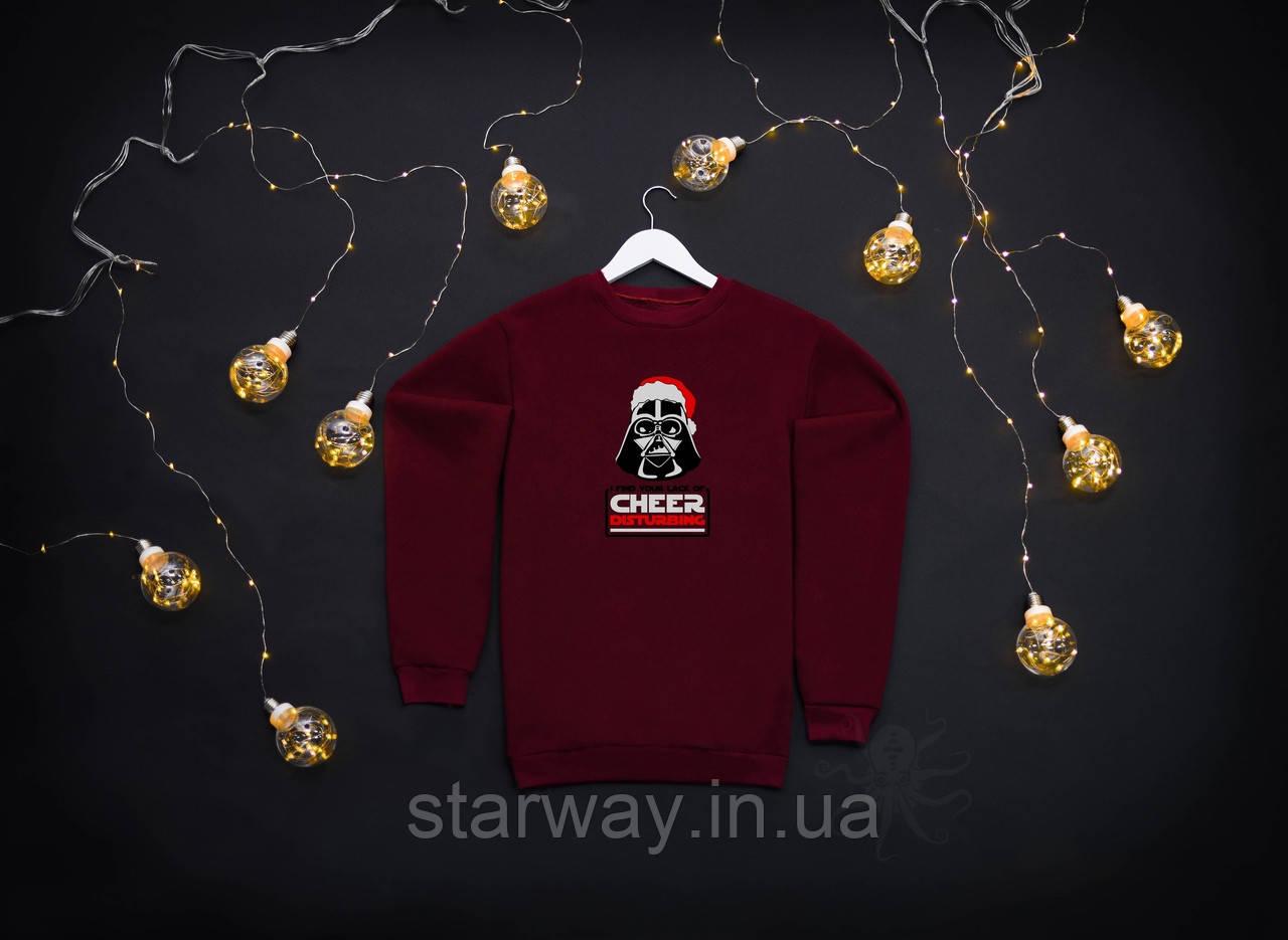 Новорічний світшот Darth Vader | кофта з логотипом Дарт Вейдер