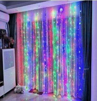 Xmas гирлянда  LED (Водопад  2M*2M) 240-M-2 Мультицветная