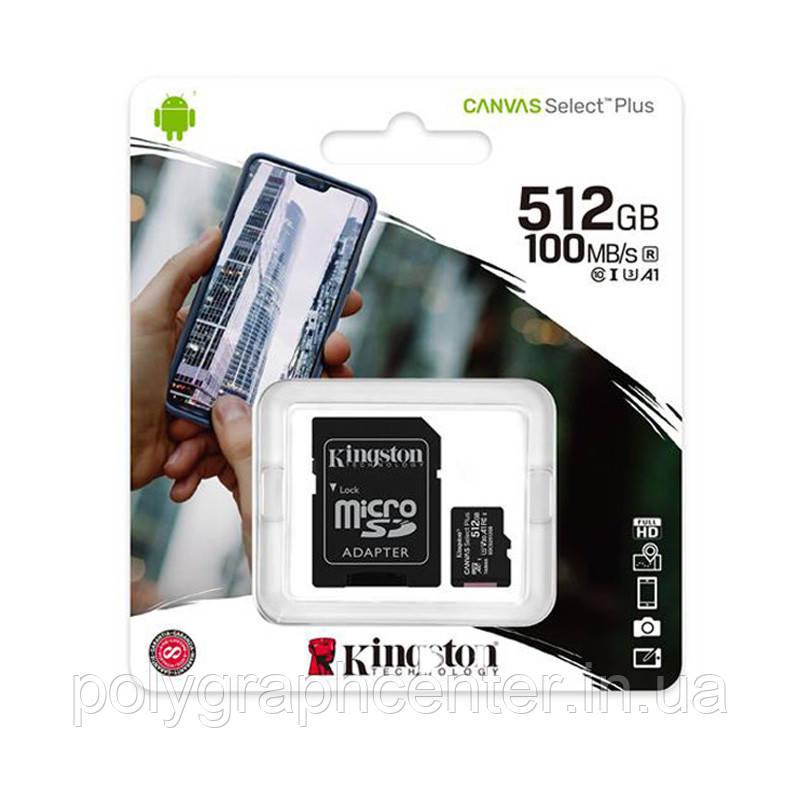Карта пам'яті Kingston Canvas Select Plus 512GB Class 10