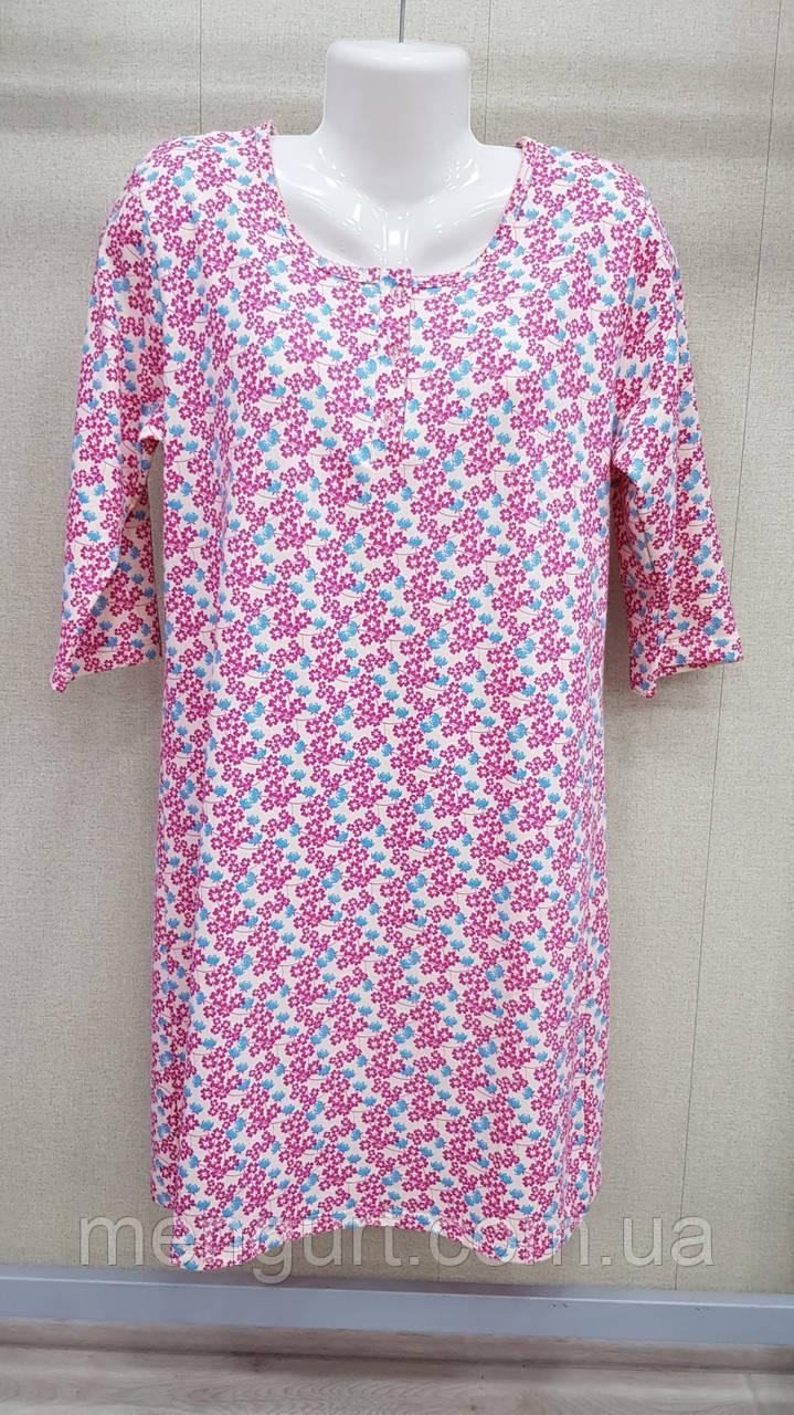 """Нічні сорочки для жінок теплі з довгим рукавом 100% бавовна фабричні """"Samo"""""""