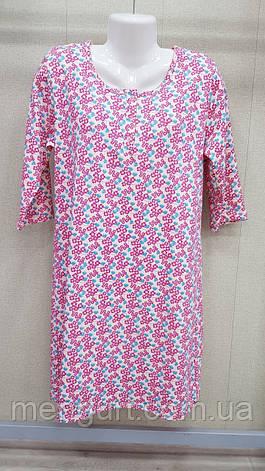 """Нічні сорочки для жінок теплі з довгим рукавом 100% бавовна фабричні """"Samo"""", фото 2"""