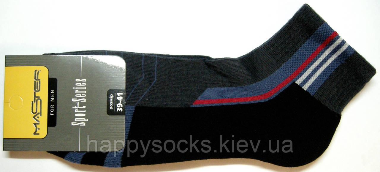 Носки с махровой стопой спорт короткие