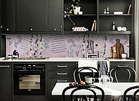 Скинали на кухню Zatarga «Стихи» 600х2500 мм виниловая 3Д наклейка кухонный фартук самоклеящаяся, фото 1