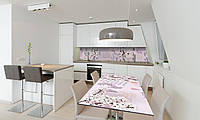 Наклейка 3Д виниловая на стол Zatarga «Стихи» 600х1200 мм для домов, квартир, столов, кофейн, кафе, фото 1