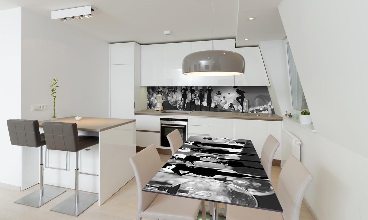 Наклейка 3Д виниловая на стол Zatarga «Вдохновение» 650х1200 мм для домов, квартир, столов, кофейн,