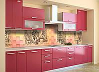 Скинали на кухню Zatarga «Плетенная Абстракция» 600х2500 мм виниловая 3Д наклейка кухонный фартук, фото 1