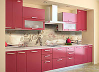 Скинали на кухню Zatarga «Фарфор» 600х2500 мм виниловая 3Д наклейка кухонный фартук самоклеящаяся, фото 1
