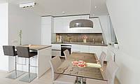 Наклейка 3Д виниловая на стол Zatarga «Розы в вазах» 650х1200 мм для домов, квартир, столов, кофейн,, фото 1