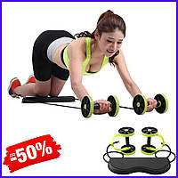 Универсальный силовой фитнес тренажер Revoflex Xtreme для всего тела ролики для пресса спины рук и ягодиц