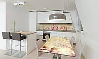 Наклейка 3Д виниловая на стол Zatarga «Нежные Герберы» 600х1200 мм для домов, квартир, столов, кофейн,, фото 1