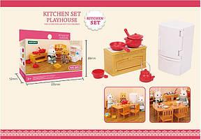 Игровой набор Кухня с холодильником печкой посудой для ЛОЛ