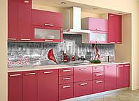 Скинали на кухню Zatarga «Городская жизнь» 650х2500 мм виниловая 3Д наклейка кухонный фартук самоклеящаяся, фото 1