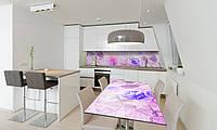 Наклейка 3Д виниловая на стол Zatarga «Утренние Пионы» 600х1200 мм для домов, квартир, столов, кофейн,, фото 1